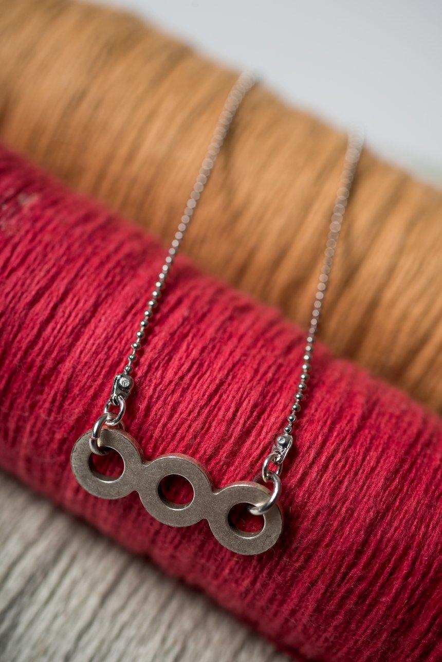 Image of Silver Trio Necklace