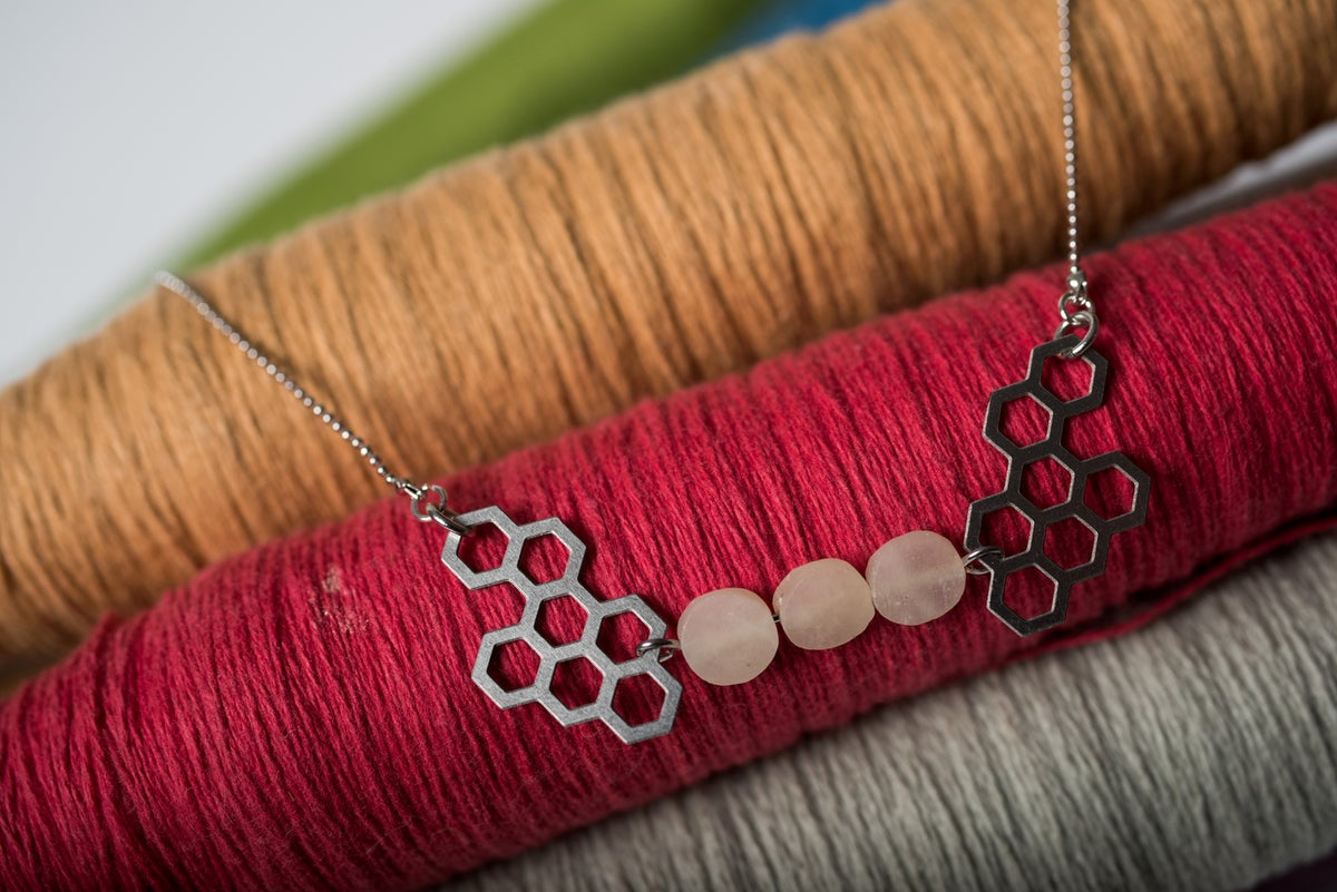 Image of Silver Hive Necklace