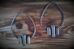 Image of 44 Mag and 40 Bullet Casing Hoops Etched with Mandala 2 Gauged