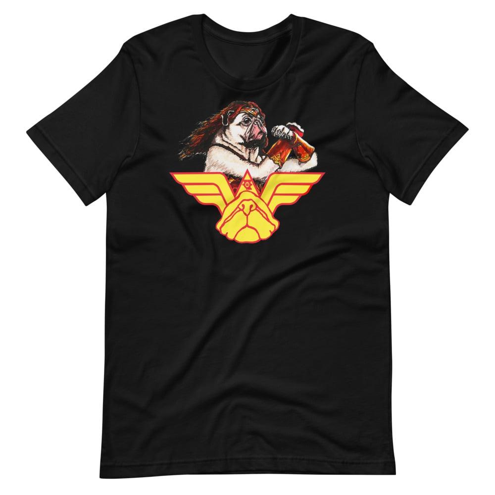 """Wonder Pug"" Short-Sleeve Unisex T-Shirt"