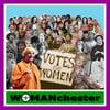 "Womanchester Suffragette colours 12""x12"" print"