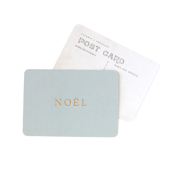 Image of Carte Postale NOËL / DORÉ / BLEU LICHEN