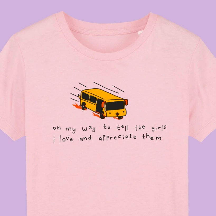 The Girls Bus Tee in Pink