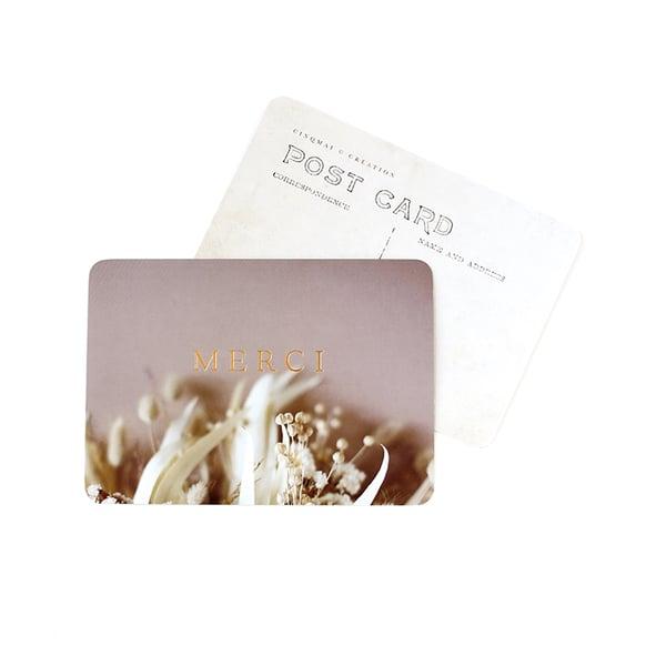 Image of Carte Postale MERCI / DORÉ / BRINDILLE NUDE