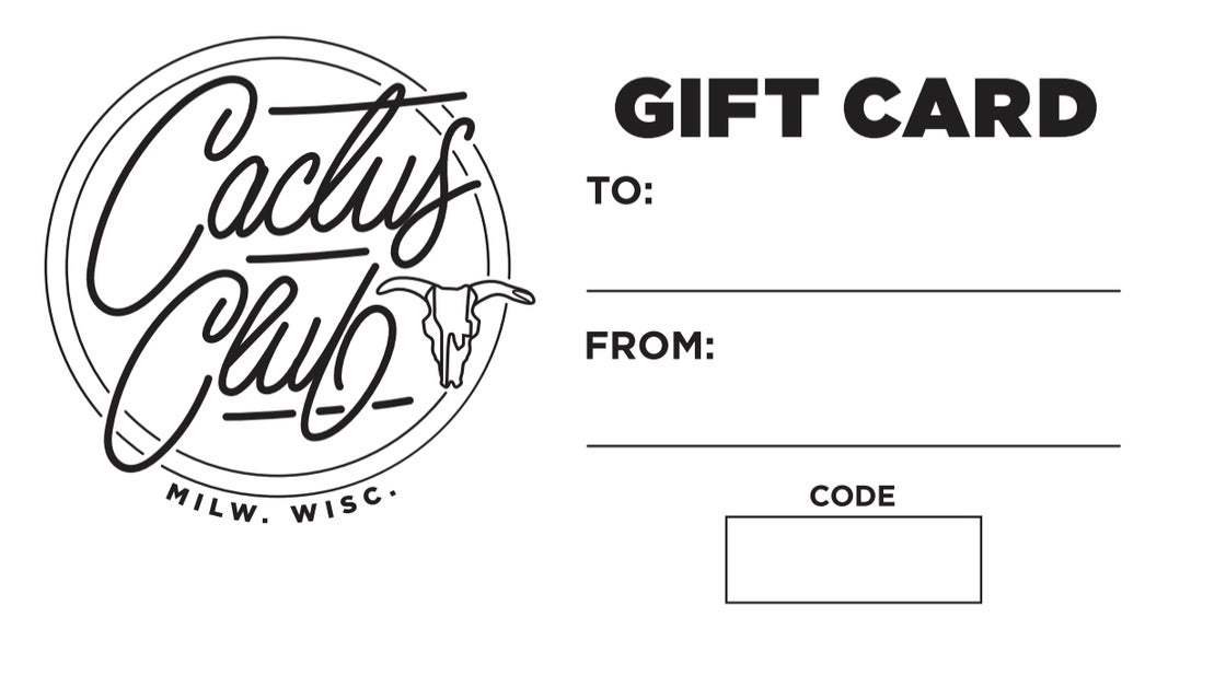 "Image of Cactus $25 Gift Card ""bond"""