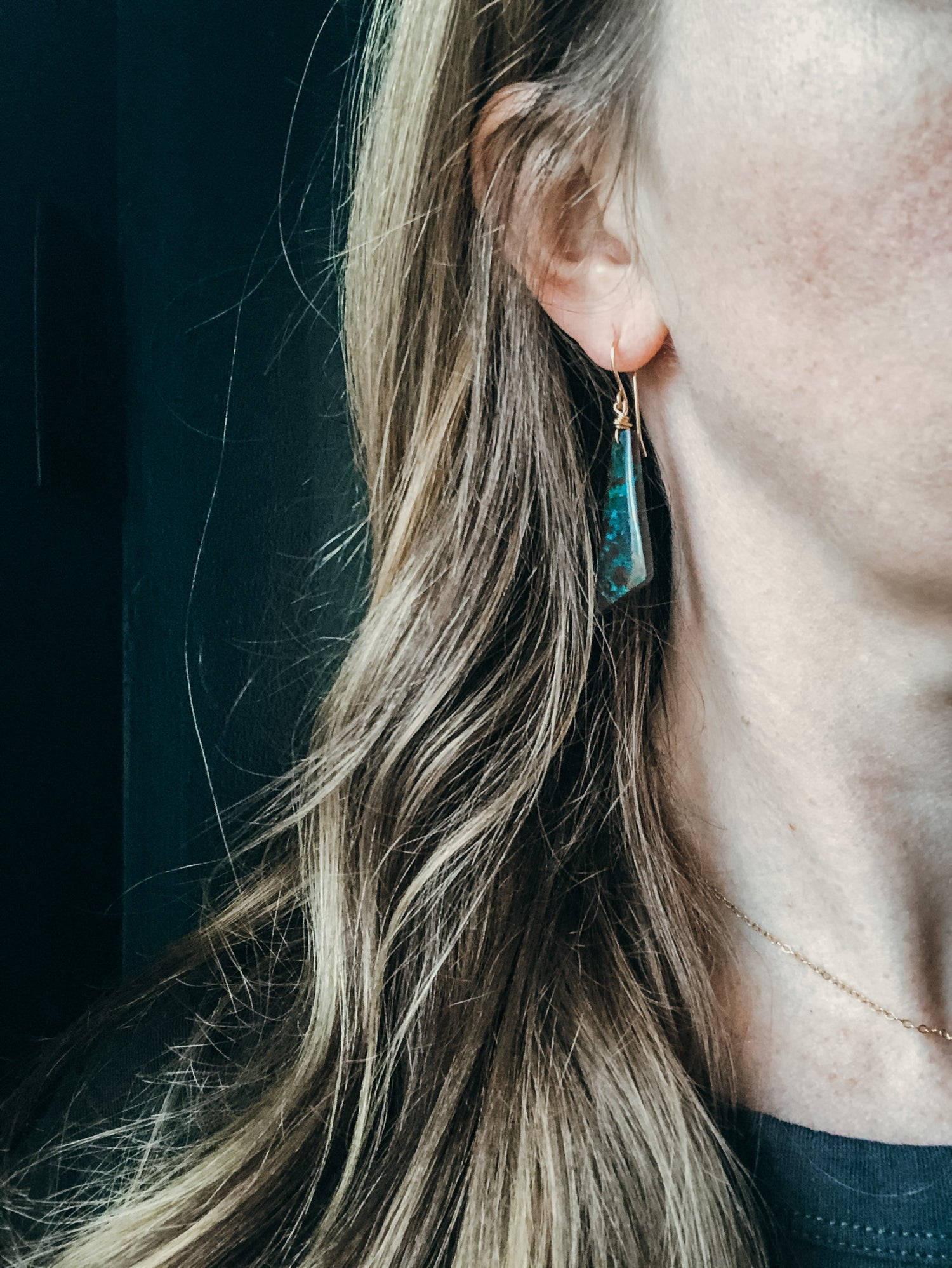 Image of One of a Kind Chrysocolla Angled Dangles