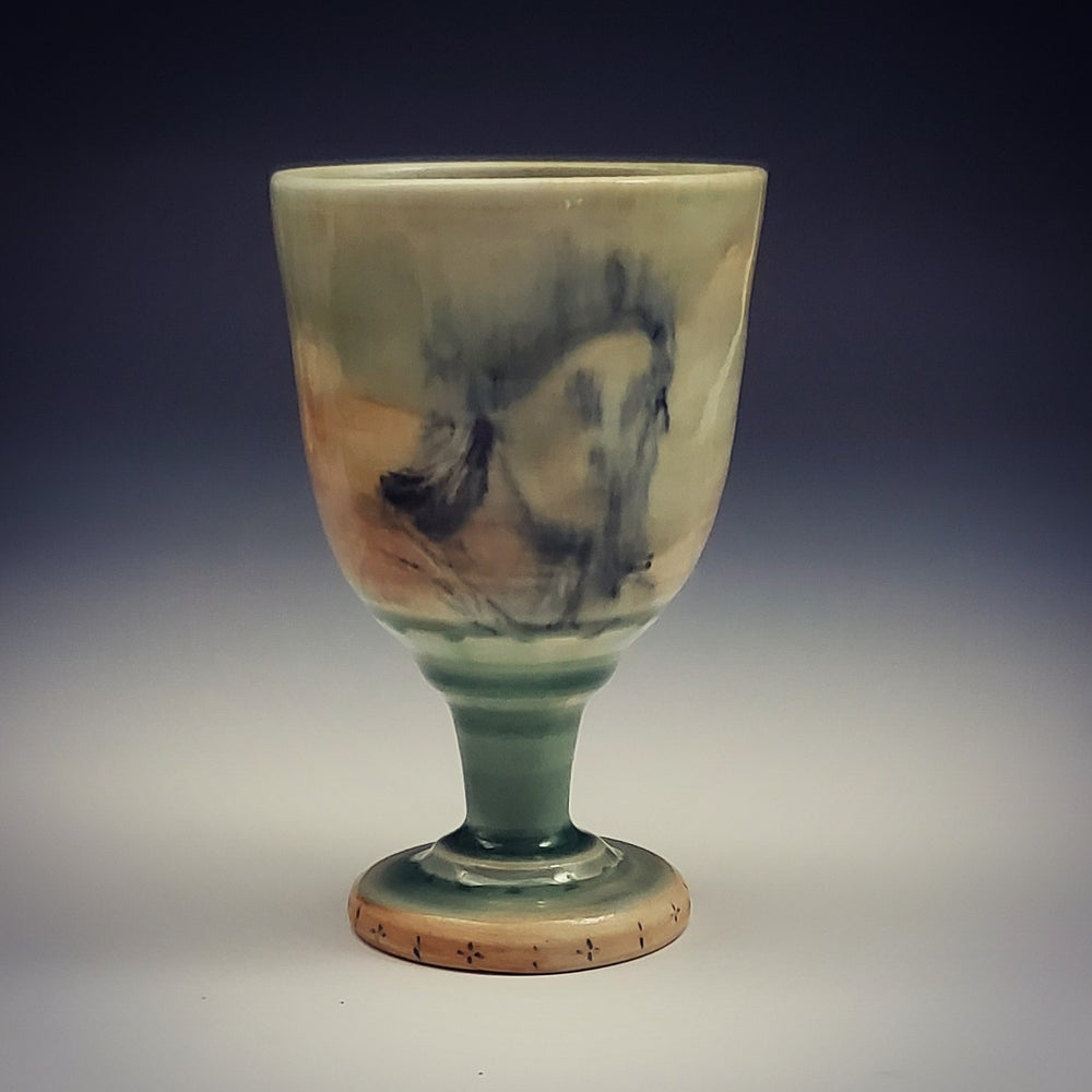 Image of Portrait Drawing Porcelain Chalice