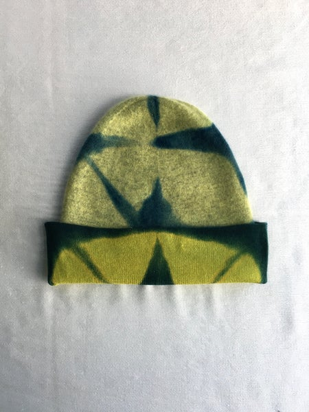 Image of Abstract Chartreuse — Cashmere Cap