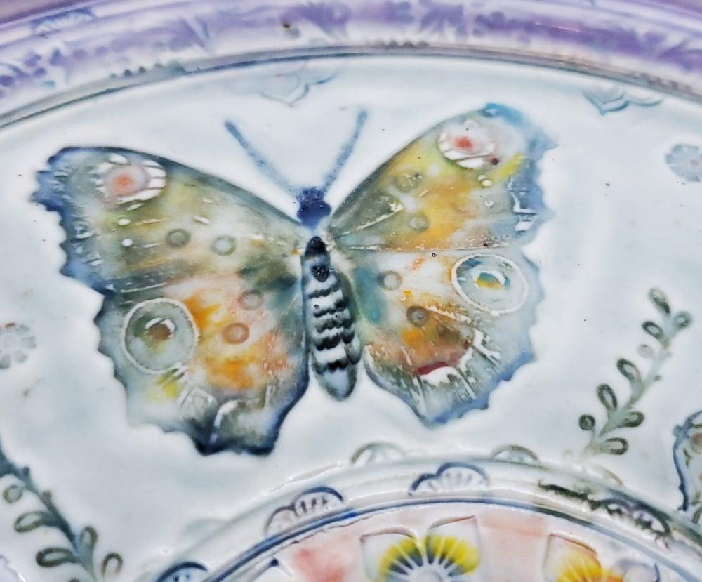 Image of Free Spirit Butterfly Mandala Porcelain Platter
