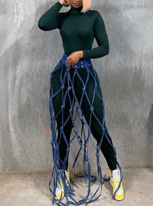 Image of Denim Overskirt