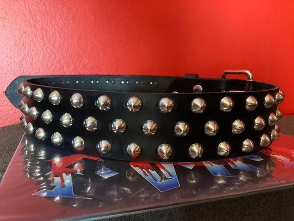 """Image of 3-ROW SPREAD 1/2"""" CONE STUDDED LEATHER BELT"""