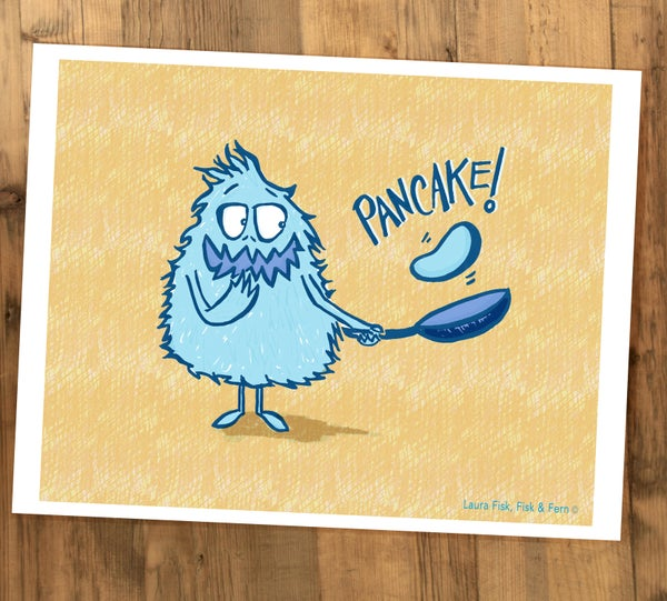 Image of Pancake Monster Kitchen Print