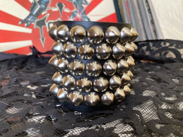 """Image of 5-ROW OFFSET 1/2"""" CONE STUDDED CUFF"""
