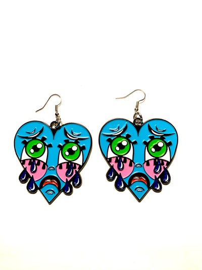 Image of BLUE Crybaby Earrings