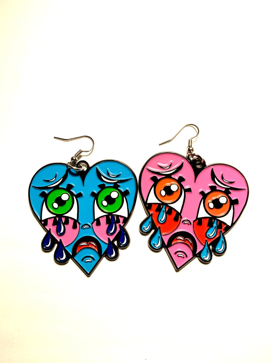 Image of Mismatched Crybaby Earrings