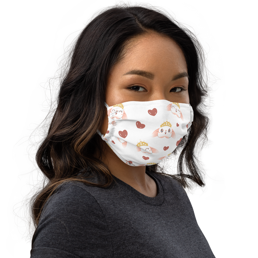 Image of *NEW* Blanco 'Bunny Crown' Face Mask