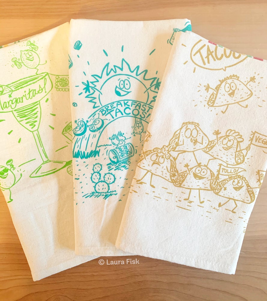 Image of All the Funny Food Tea Towels