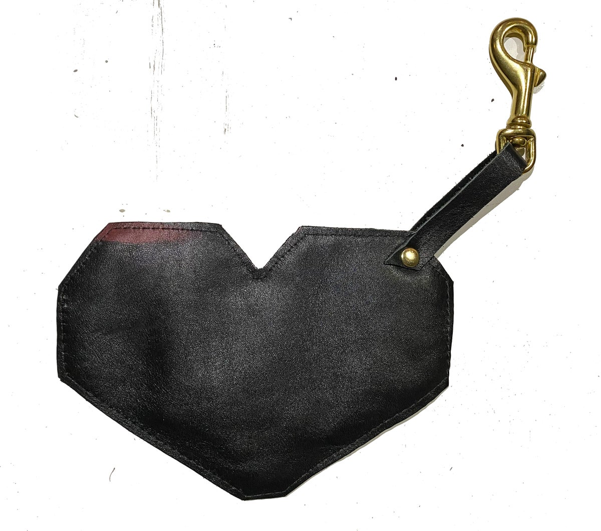 Leather Heart Coin Purse