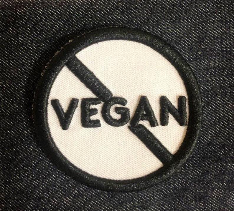Image of Not Vegan 3D Embroidery Embellishment PATCH! By Dig Threads