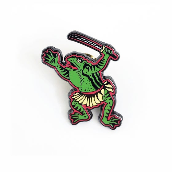 Image of Samurai Frog pin