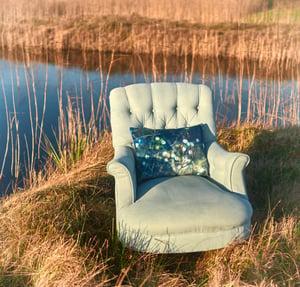 Image of Snowberry, luxury velvet cushion