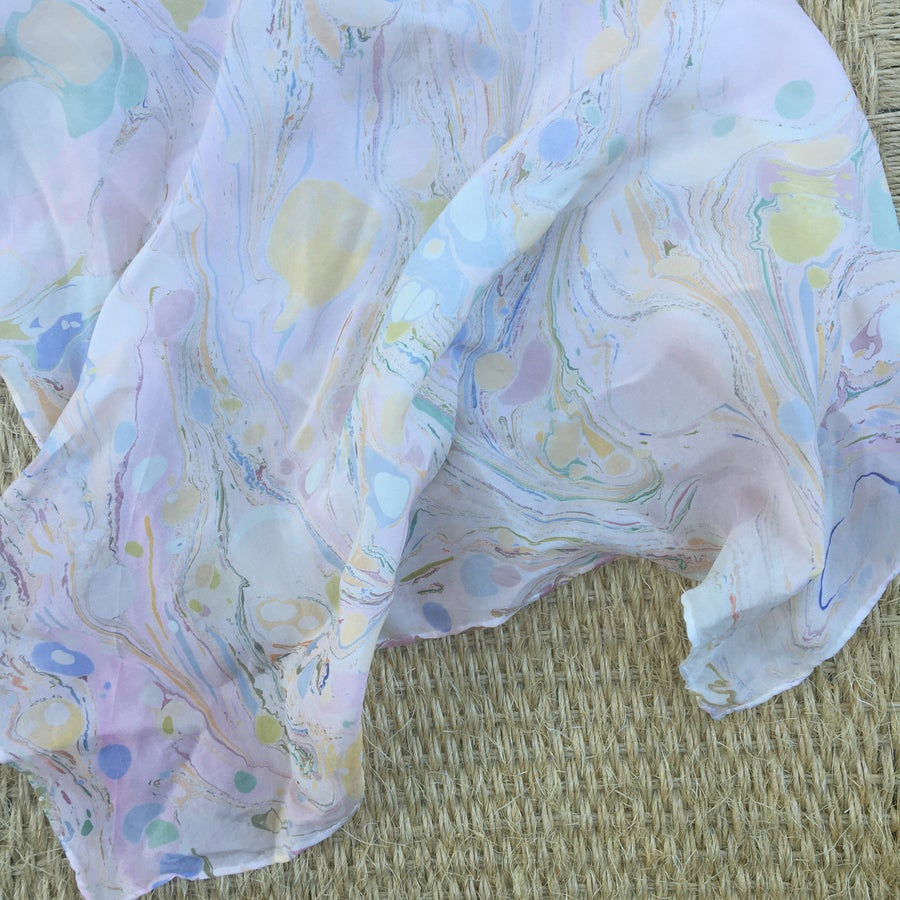 Image of Marbled Silk Scarf no. 2