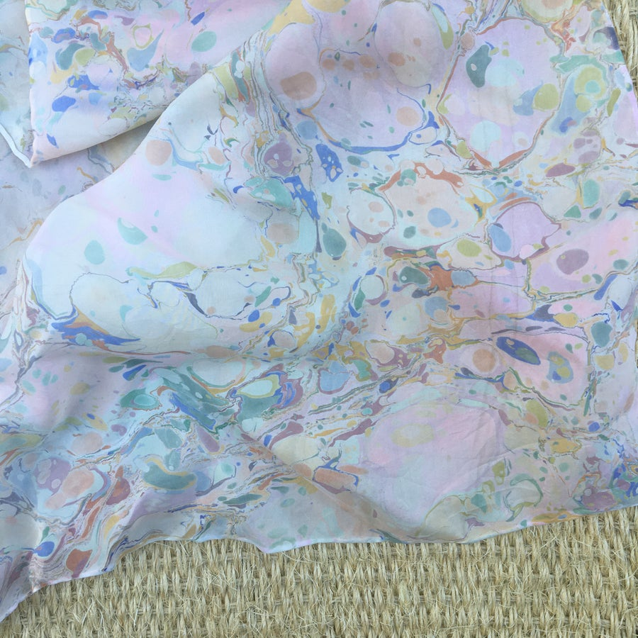 Image of Marbled Silk Scarf no. 3