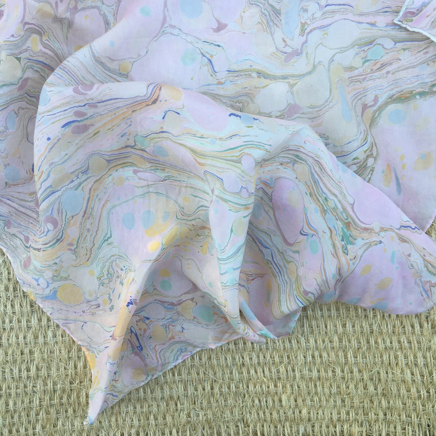 Image of Marbled Silk Scarf no. 4