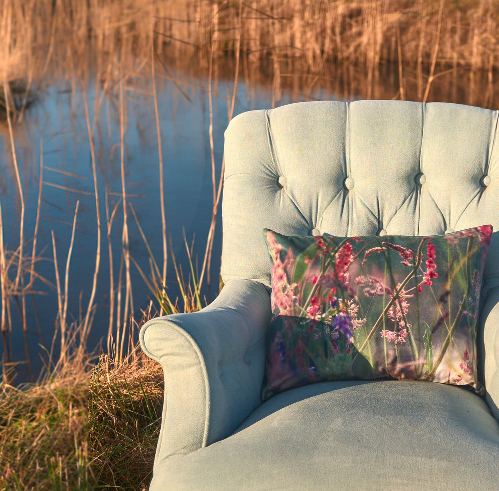 Image of Meadow grasses, luxury velvet cushion
