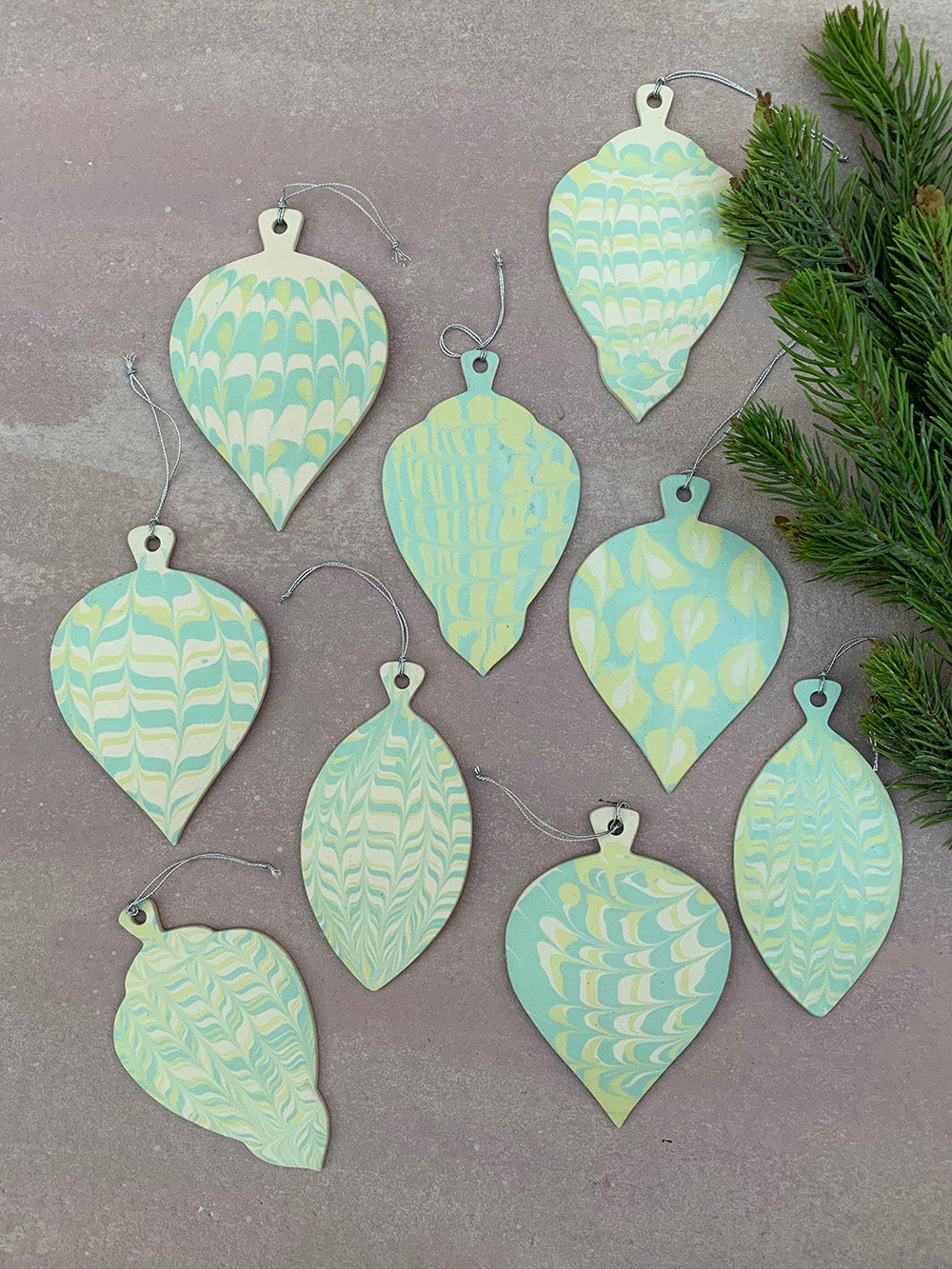 Green Holiday Ornament 12
