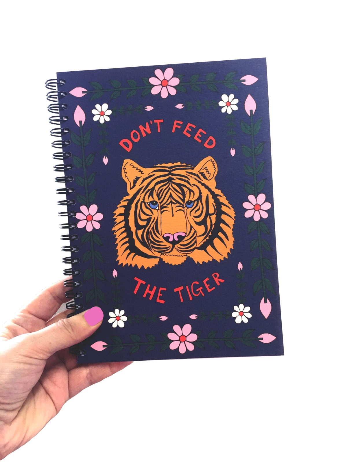 Don't Feed The Tiger A5 Spiral Notebook