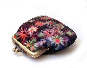 Image of Starry mosses, velvet kisslock coin purse