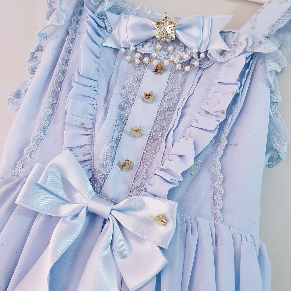 Image of Starry Gold and Blue Lolita Dress
