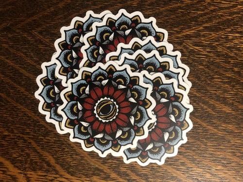 Image of All Seeing Eye Flower Mandala STICKER! By Dig Threads