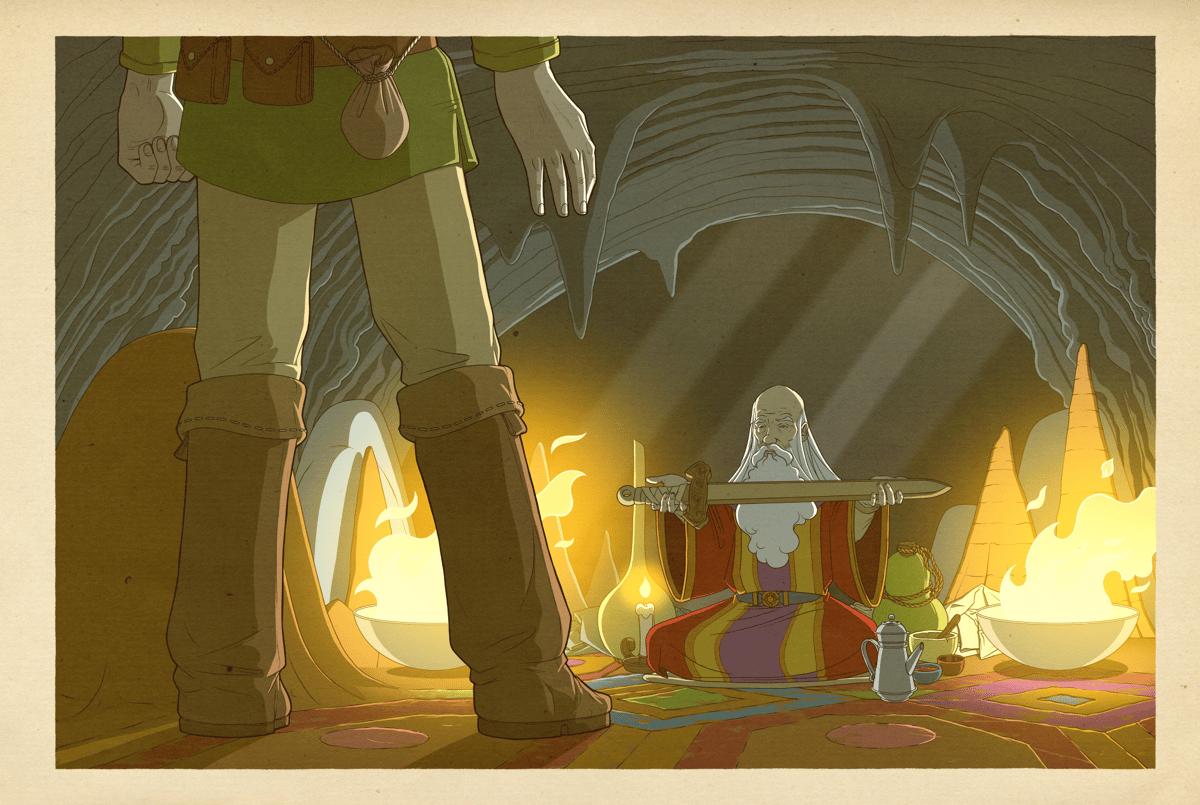 Image of The Legend of Zelda - The Cave Sage