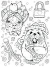 PRE-ORDER: Snaggle Tooth Tattoodle Coloring Book
