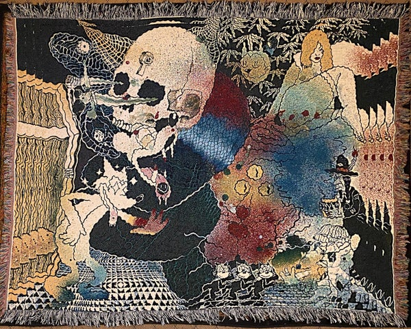 Image of Acid Beach 1 woven blanket PREORDER