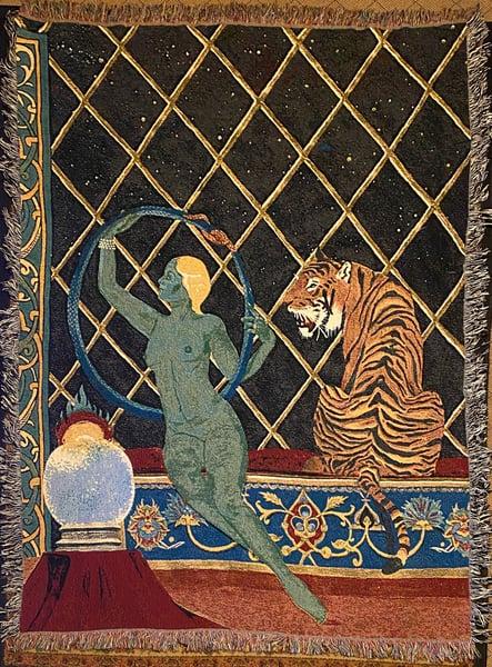 Image of Ouroboros woven blanket PREORDER