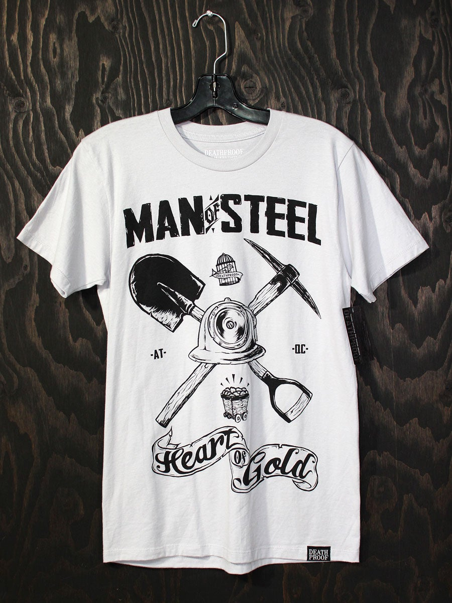 Image of Man Of Steel Gris / T-shirt Homme