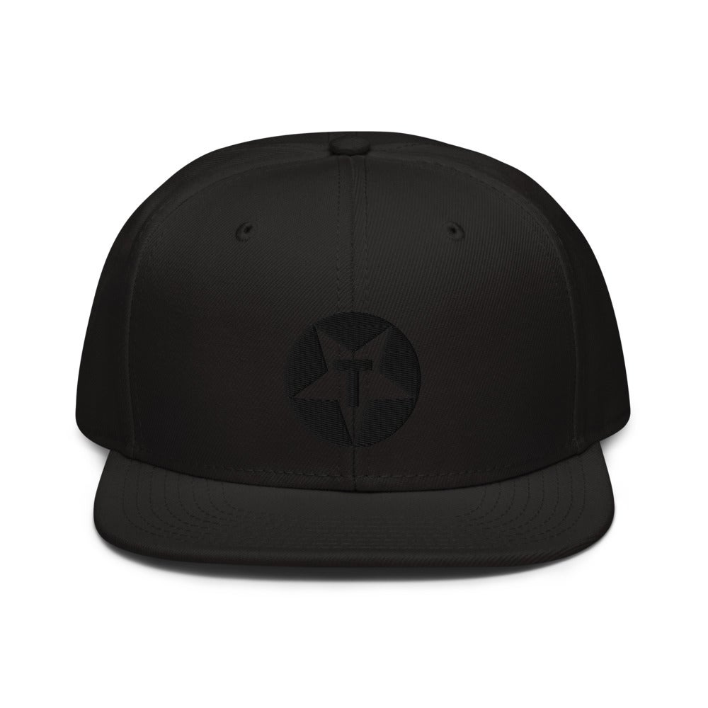 Black on Black Toybox Logo Embroidered Hat