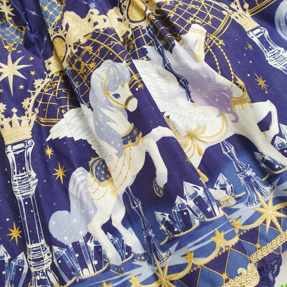 Image of Angelic Pretty Crystal Dream Carnival Skirt in Navy