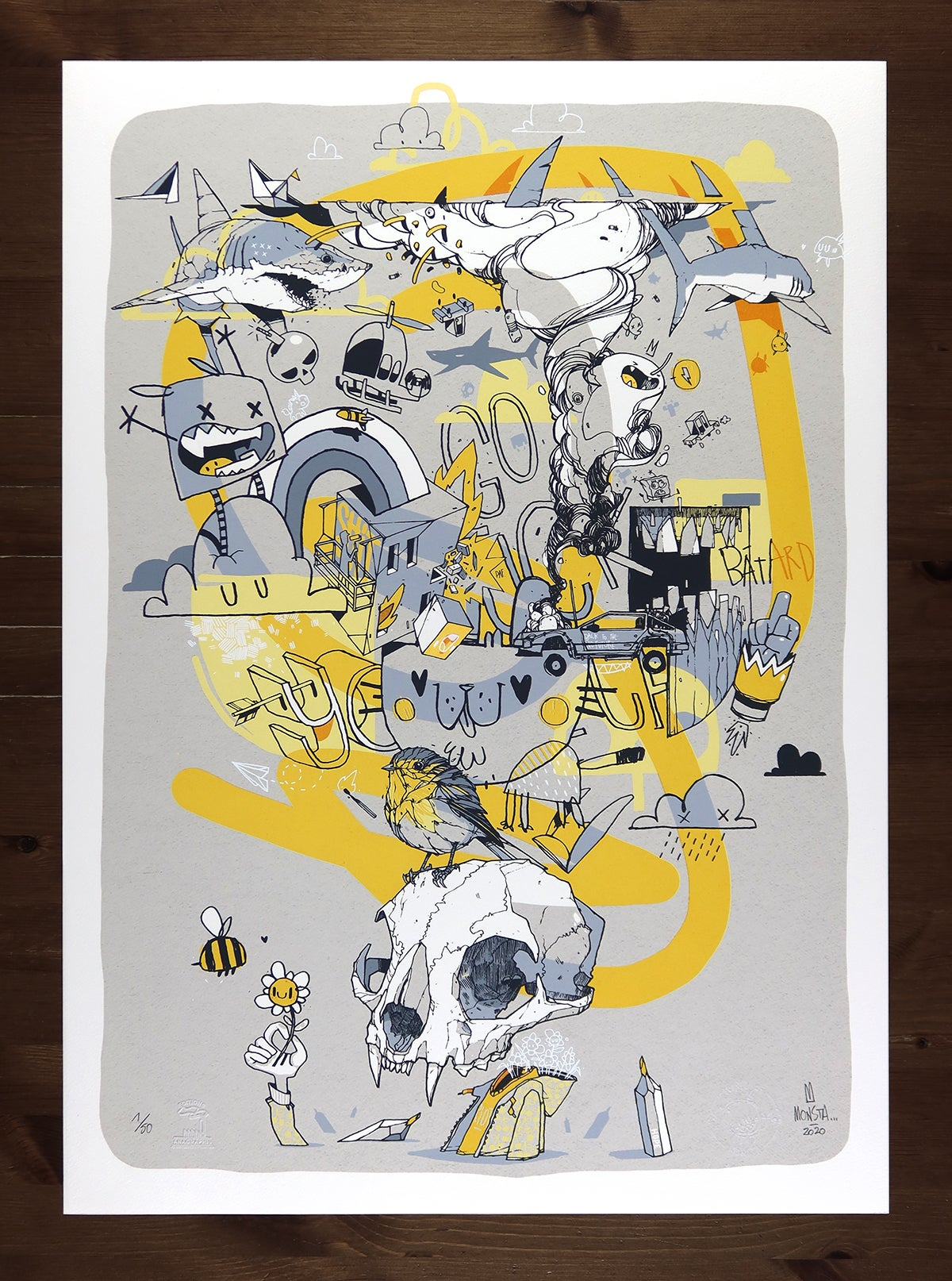 "Image of ""That was just a dream"" - screenprint - 50x70cm"