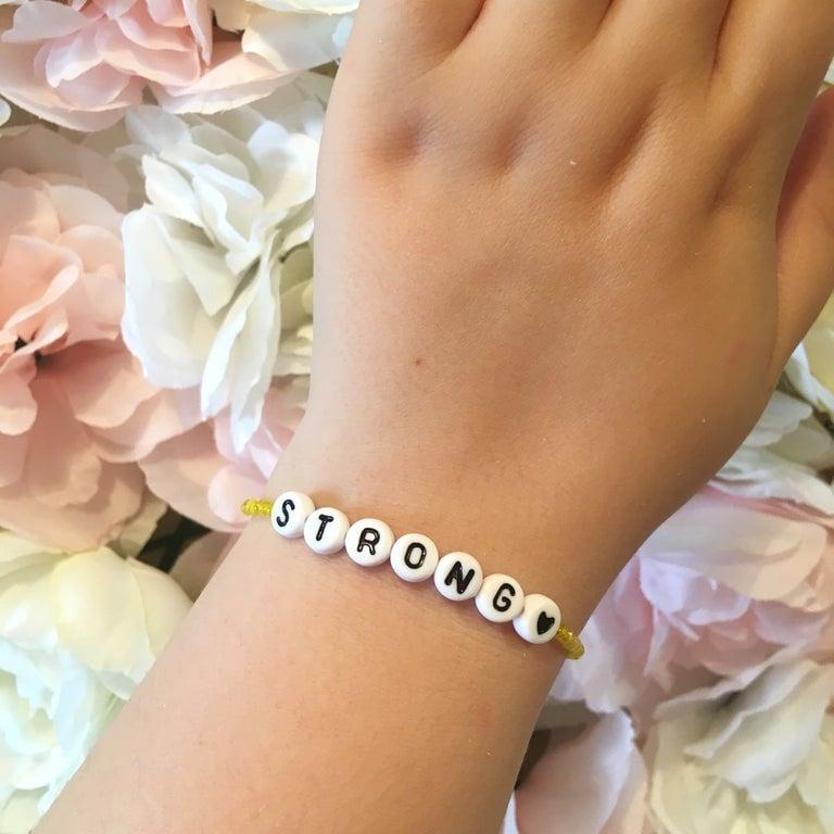 Personalised Beaded Word Bracelet