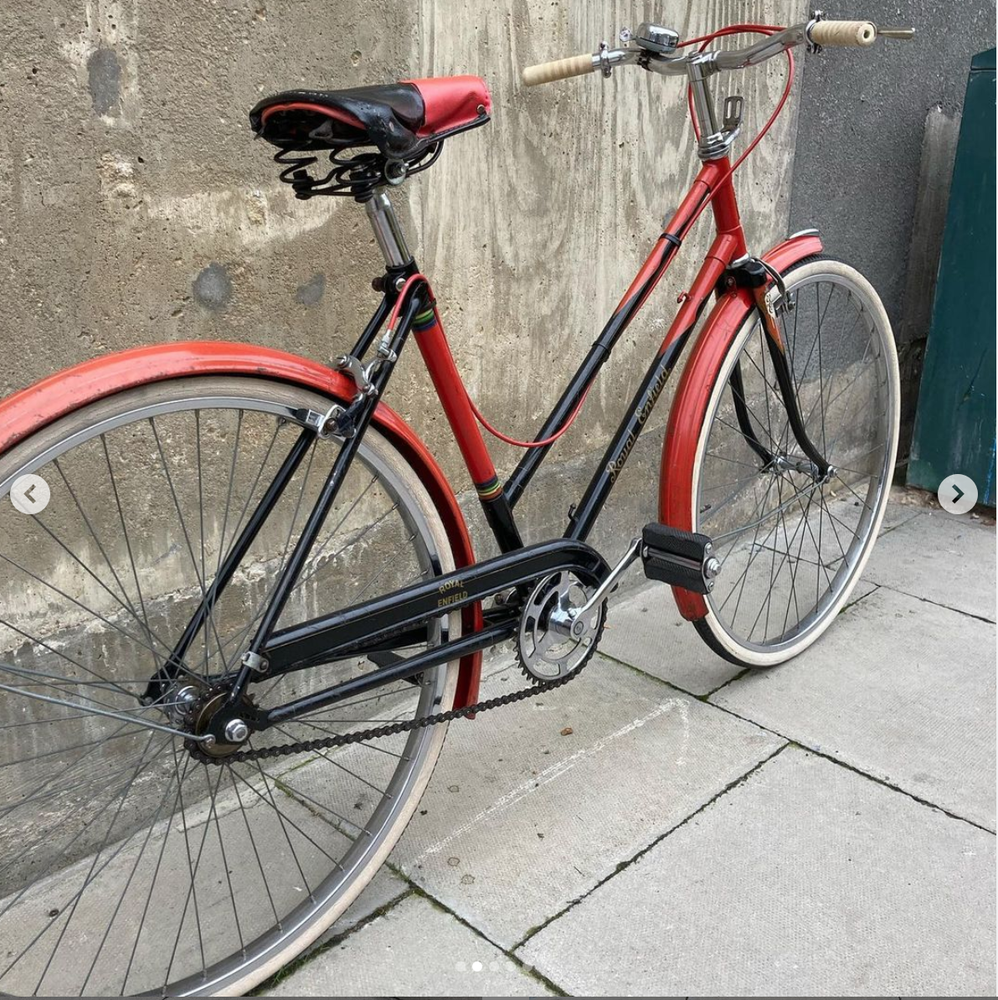 "Image of 19"" Royal Enfield single speed. 1950's"