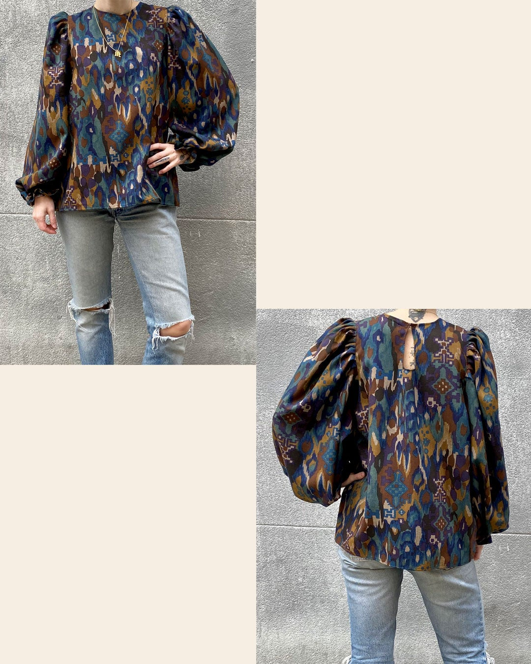 Image of Millie Blouse - Made to Order (Non-sheer)