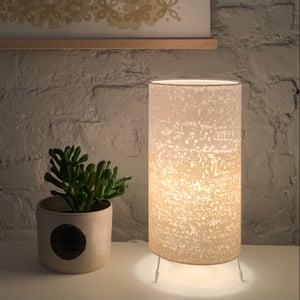 Image of Rain Print Gold Stripe Lamp