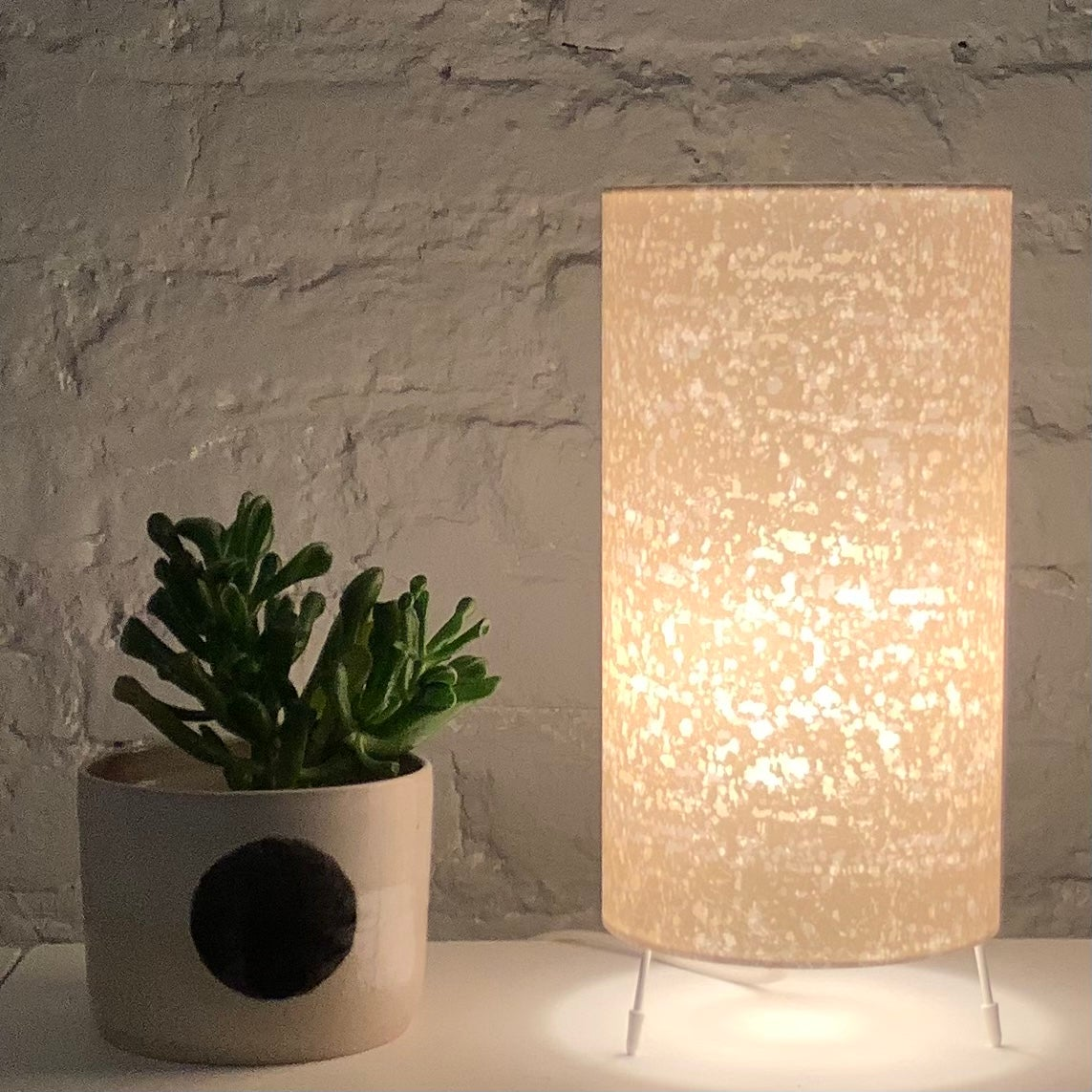 Image of Rain Print Gold Lamp