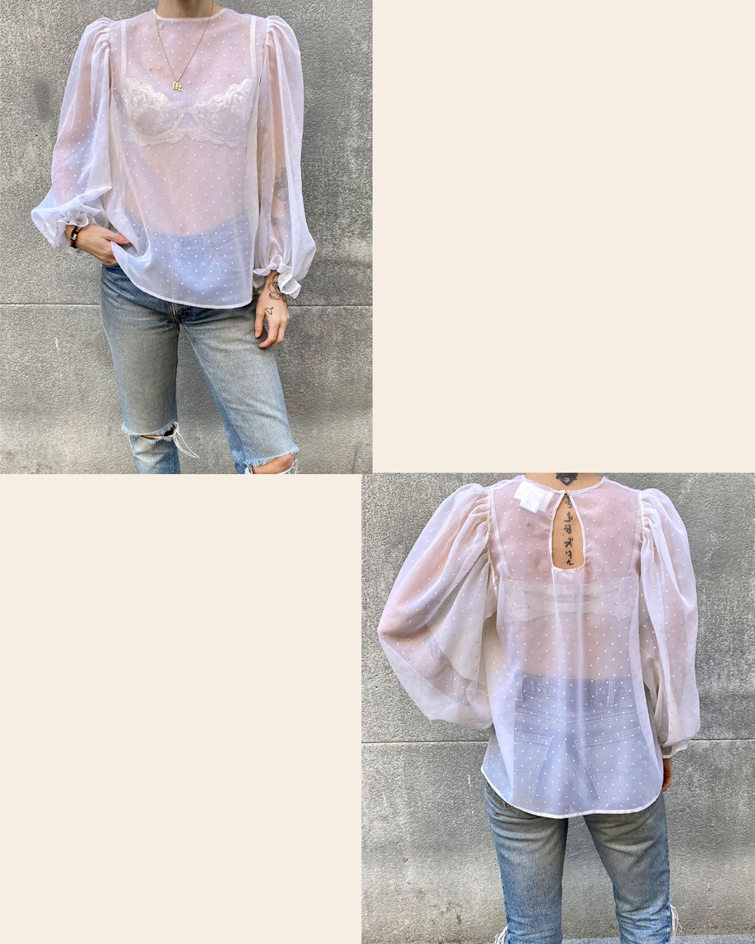 Image of Millie Blouse - Made to Order (Sheer)