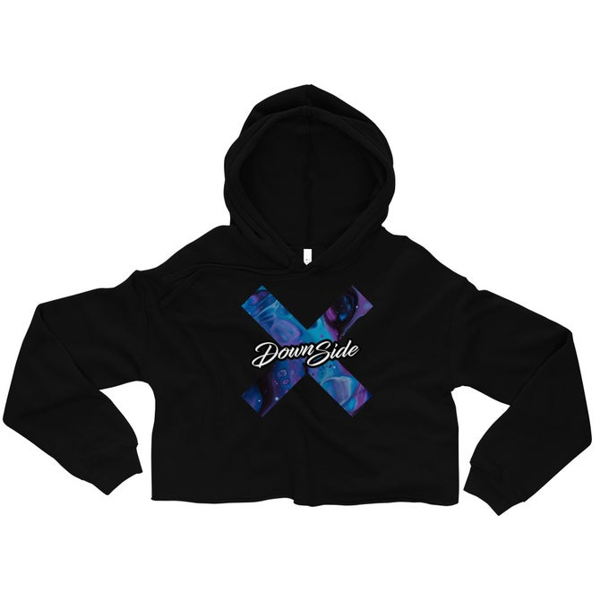 Image of Womens Liquid Crop Hoodie