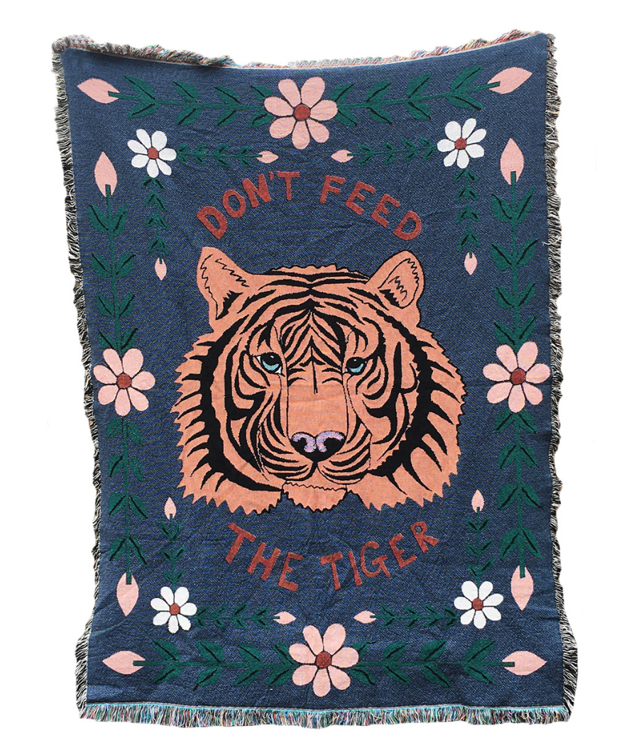 Don't Feed The Tiger Blanket